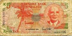 5 Kwacha MALAWI  1990 P.24a B