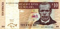 10 Kwacha MALAWI  1997 P.37 TTB