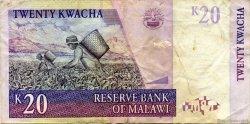 20 Kwacha MALAWI  1997 P.38a TTB