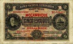 5 Escudos MOZAMBIQUE  1941 P.083a pr.TB