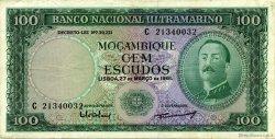 100 Escudos MOZAMBIQUE  1961 P.109b TTB