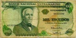 1000 Escudos MOZAMBIQUE  1972 P.115 B