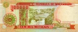 100000 Meticais MOZAMBIQUE  1993 P.139 NEUF