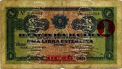 1 Libra MOZAMBIQUE Beira 1919 P.R07b B