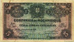 5 Libras MOZAMBIQUE  1934 P.R32 TB
