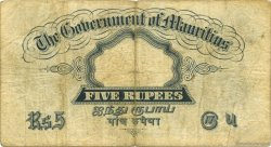 5 Rupees ÎLE MAURICE  1930 P.20 B+