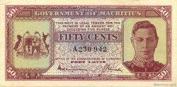 50 cents ÎLE MAURICE  1940 P.25a SUP+