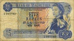 5 Rupees ÎLE MAURICE  1967 P.30a B