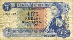 5 Rupees ÎLE MAURICE  1967 P.30a TB