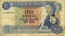 5 Rupees ÎLE MAURICE  1967 P.30c B
