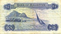 5 Rupees ÎLE MAURICE  1967 P.30c TTB