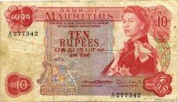 10 Rupees ÎLE MAURICE  1967 P.31b B à TB