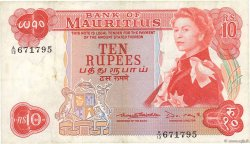 10 Rupees ÎLE MAURICE  1967 P.31b TTB
