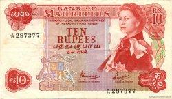 10 Rupees ÎLE MAURICE  1967 P.31c TTB+