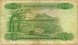 25 Rupees ÎLE MAURICE  1967 P.32b B+ à TB