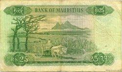 25 Rupees ÎLE MAURICE  1967 P.32b pr.TTB