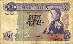 50 Rupees ÎLE MAURICE  1967 P.33a B+