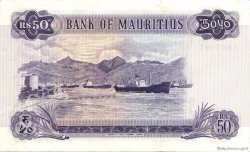50 Rupees ÎLE MAURICE  1967 P.33b SUP+