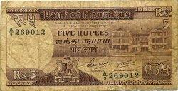 5 Rupees ÎLE MAURICE  1985 P.34 B à TB