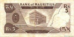 5 Rupees ÎLE MAURICE  1985 P.34 TTB