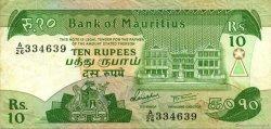 10 Rupees ÎLE MAURICE  1985 P.35a TTB