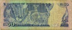 50 Rupees ÎLE MAURICE  1986 P.37a B