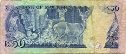 50 Rupees ÎLE MAURICE  1986 P.37a TB+
