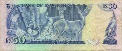 50 Rupees ÎLE MAURICE  1986 P.37a TTB
