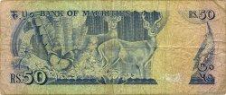 50 Rupees ÎLE MAURICE  1986 P.37b TB