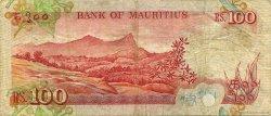 100 Rupees ÎLE MAURICE  1986 P.38 TTB