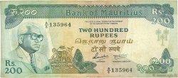 200 Rupees ÎLE MAURICE  1985 P.39a TB