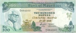 200 Rupees ÎLE MAURICE  1985 P.39b TTB