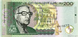 200 Rupees ÎLE MAURICE  2001 P.52b NEUF