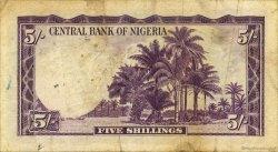 5 Shillings NIGERIA  1958 P.02 TB+