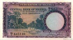 5 Shillings NIGERIA  1958 P.02 pr.NEUF