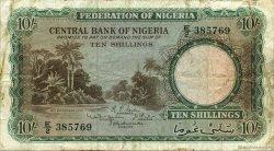 10 Shillings NIGERIA  1958 P.03 B+