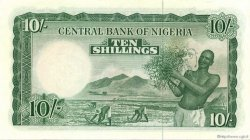 10 Shillings NIGERIA  1958 P.03 pr.NEUF