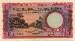 1 Pound NIGERIA  1958 P.04 TTB