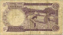 5 Shillings NIGERIA  1967 P.06 B
