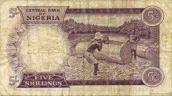 5 Shillings NIGERIA  1967 P.06 TB