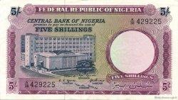 5 Shillings NIGERIA  1967 P.06 SUP