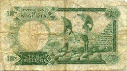 10 Shillings NIGERIA  1967 P.07 B