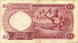 1 Pound NIGERIA  1967 P.08 TB