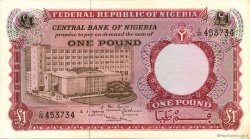 1 Pound NIGERIA  1967 P.08 SUP+
