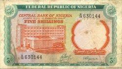5 Shillings NIGERIA  1968 P.10b TB