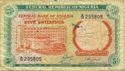 5 Shillings NIGERIA  1968 P.10b B