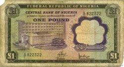 1 Pound NIGERIA  1968 P.12a B