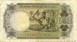 1 Pound NIGERIA  1968 P.12b TB