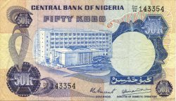 50 Kobo NIGERIA  1973 P.14d TTB