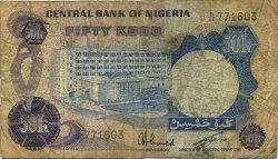 50 Kobo NIGERIA  1973 P.14f B
